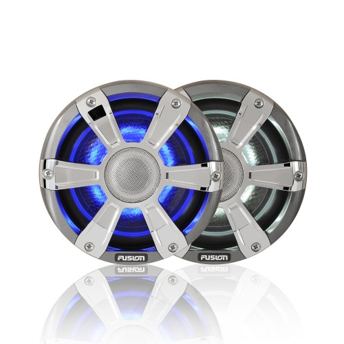 "Fusion SG-FL65SPC 6.5"" 230 WATT Coaxial Sports Chrome Marine Speaker with LED's"