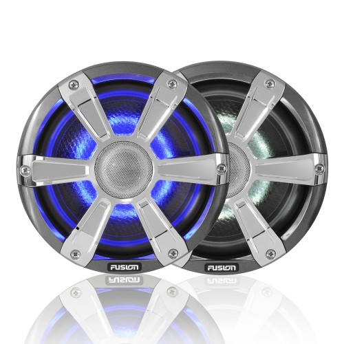 "Fusion SG-FL77SPC 7.7"" 280 WATT Coaxial Sports Chrome Marine Speaker with LED's"