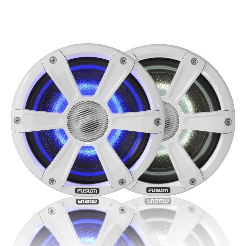 "Fusion SG-FL77SPW 7.7"" 280 WATT Coaxial Sports White Marine Speaker with LED's"
