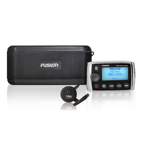 Fusion Marine Black Box with Wired Remote Marine Stereo MS-BB300R