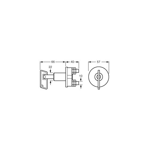 Hella Heavy Duty 50 Amp 2 Position Battery Switch - 4650