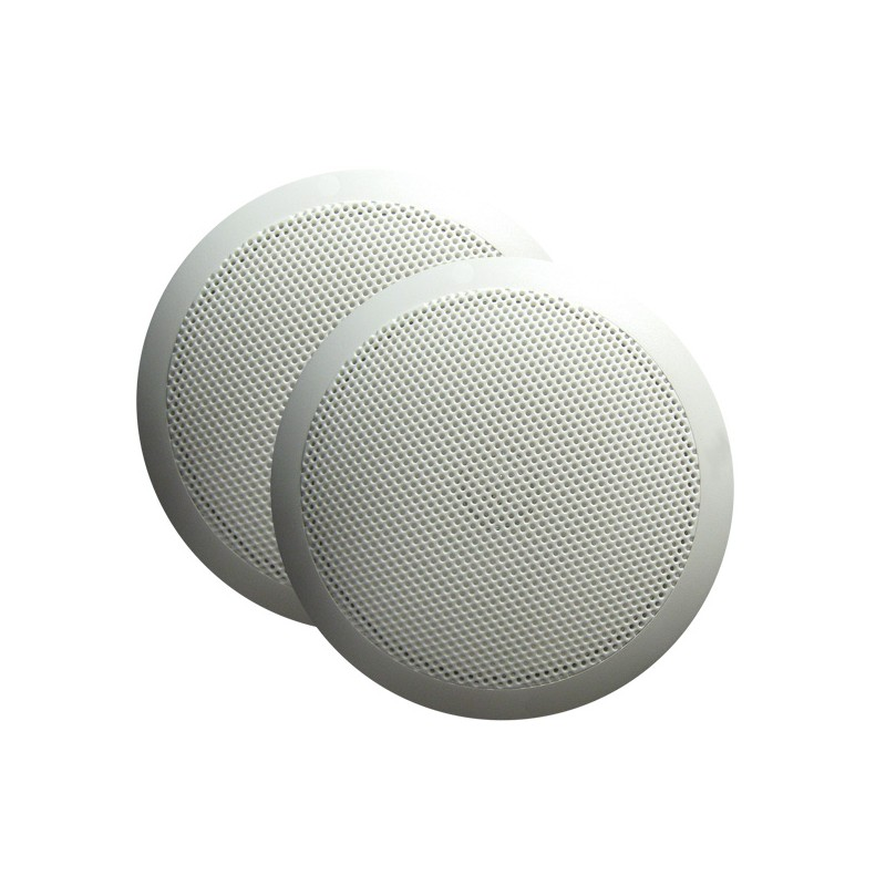 "White Majestic SPK60 6"" Ultra Slim Marine Speaker Pair"