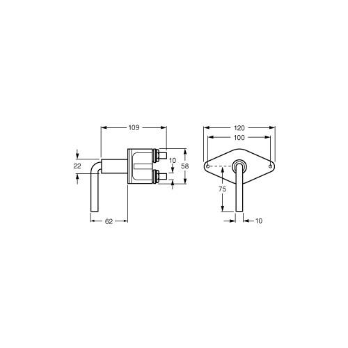 Hella 100 Amp Heavy Duty Battery Switch Removable Key - 4653