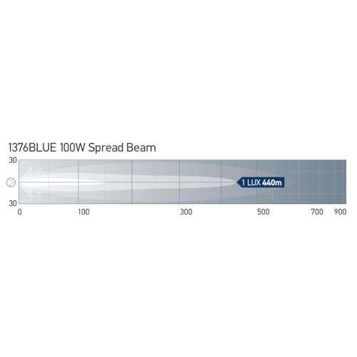 Hella 100 Watt Blue Chrome Rallye FF 4000 Spread Beam - 1376Blue