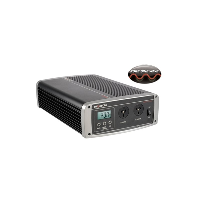 Projecta 12V 2000 Watt Pure Sine Wave Inverter with Automatic AC Transfer Switch
