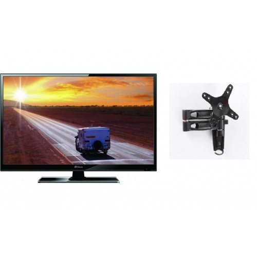 RV Media 19 Inch 12V LED TV with 2 Arm TV Mount
