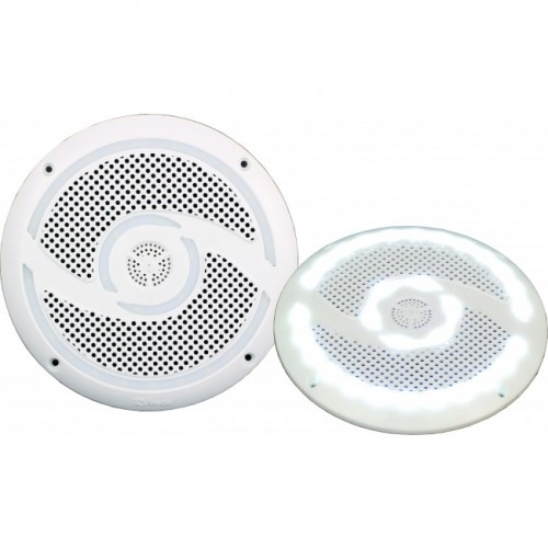 RV Media 6 Inch LED Waterproof Outdoor Speaker Pair