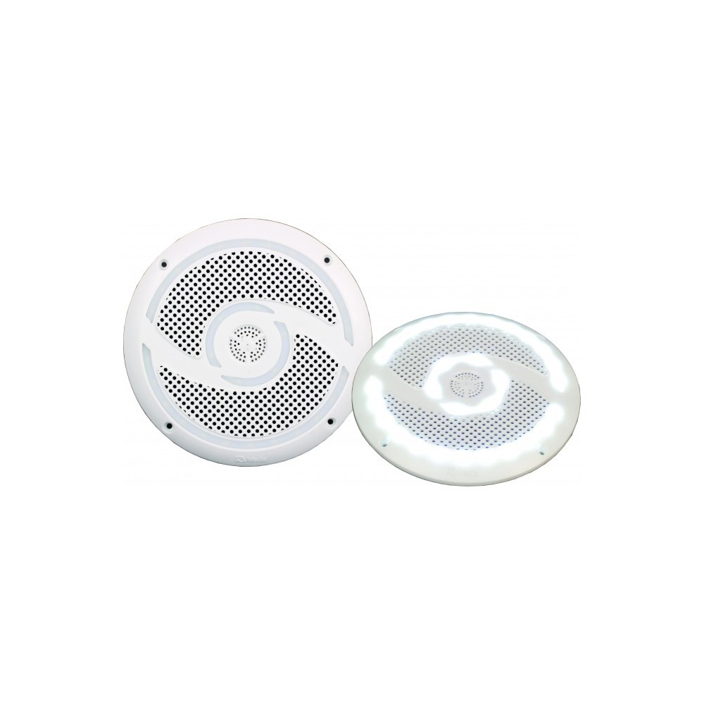 Rv Media 6 Inch Led Waterproof Outdoor Speaker For Caravan