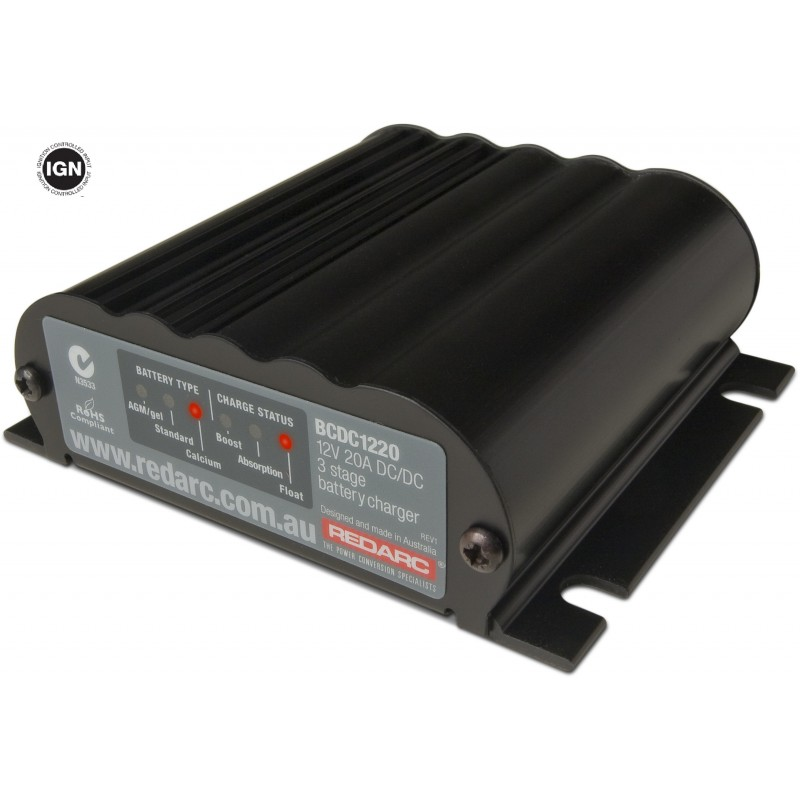 REDARC 20 Amp DC to DC Battery Charger BCD1220-IGN