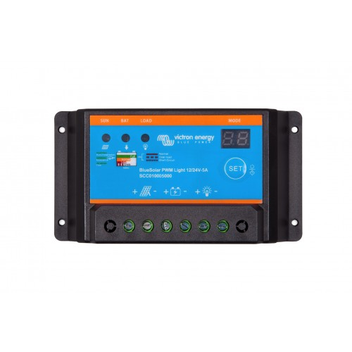 Victron Blue Solar PWM Light 12/24V 5 Amp Solar Charge Controller Regulator