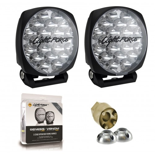 Lightforce DL150 Venom LED 12/24V Driving Light Kit