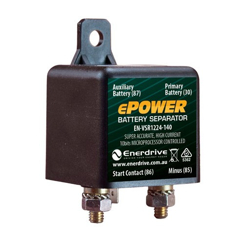 Enerdrive ePower 12/24V-140A VSR Battery Separator 140A Voltage Sensitive Relay