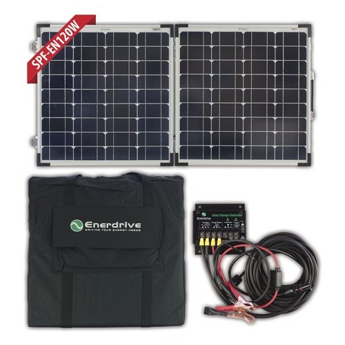 Enerdrive 120 Watt Folding Solar Panel Kit