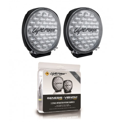 Lightforce DL210 Genesis LED Twin Pack with Bonus Harness