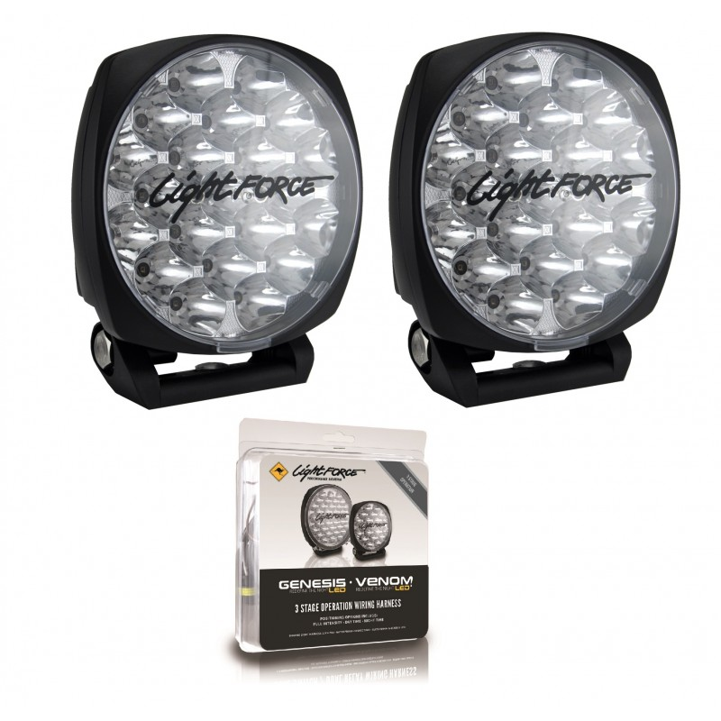 Lightforce DL150 Venom LED Twin Pack with Bonus Harness