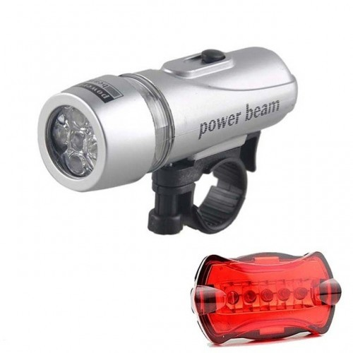 Bike Light 5 LED Waterproof Powerful Beam