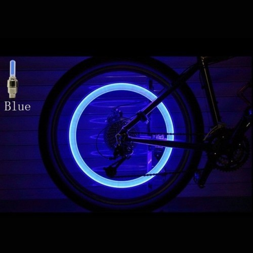 Bike LED Light Tire Valve Cap 2 Pieces Included