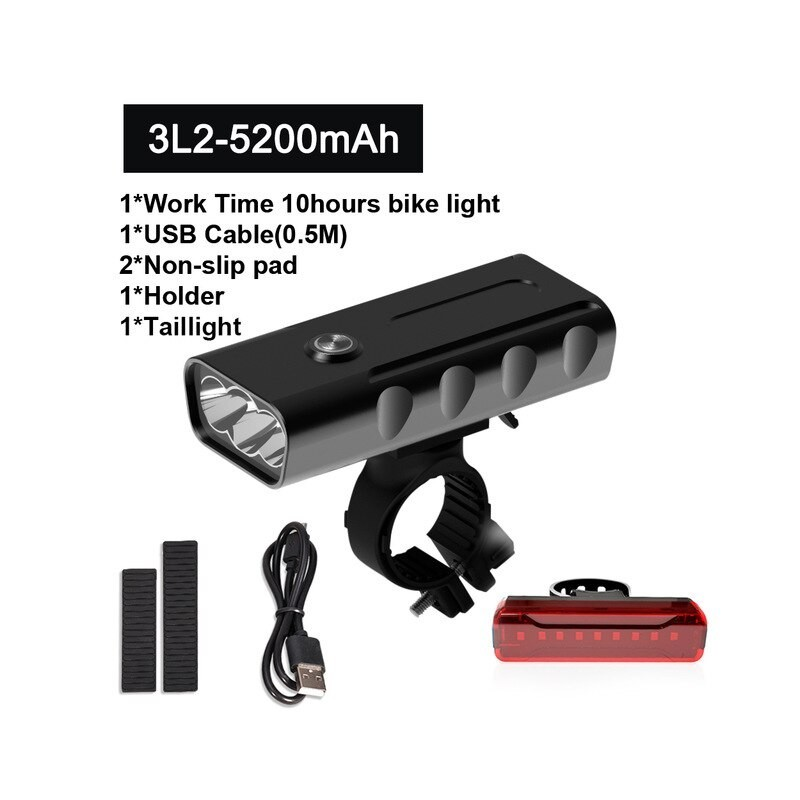Bike Light 18000Lum USB Rechargeable
