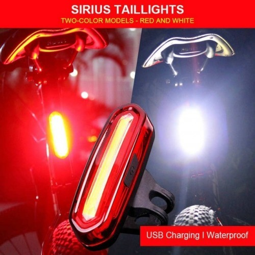 2020 New Rear Bike Light Taillight Safety Warning USB Rechargeable Bicycle Light Tail Lamp Comet LED Cycling Bicycle Light TSLM1