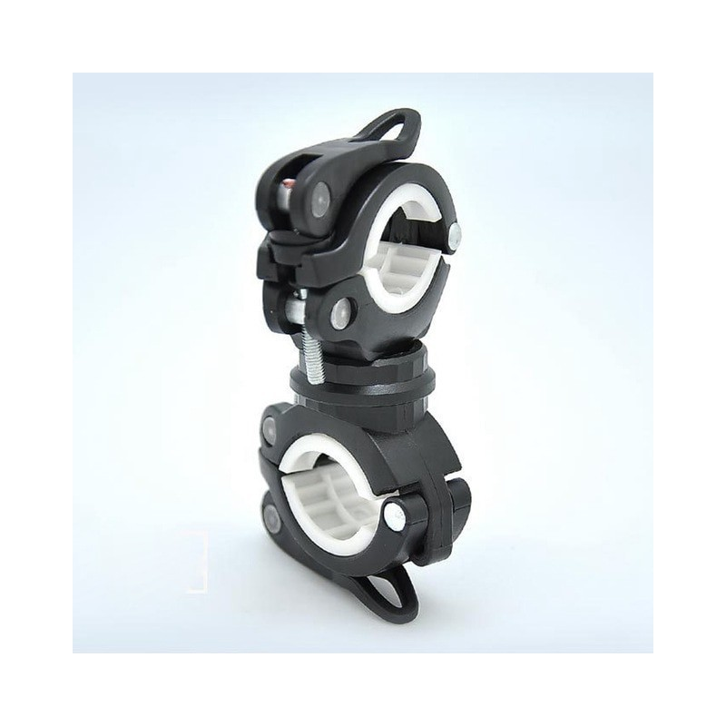 Multifunction Bike Bicycle Flashlight Holder 360 Degree Rotation Torch Mount LED Head Front Light Holder Clip for MTB Road Bike