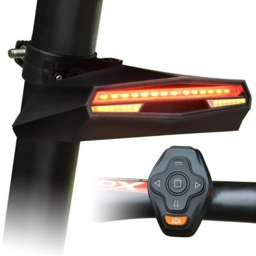 Bicycle Lights Bicycle Bike Rear LED Tail Light Wireless USB Remote Control Turn Signals laser Bicycle Accessories