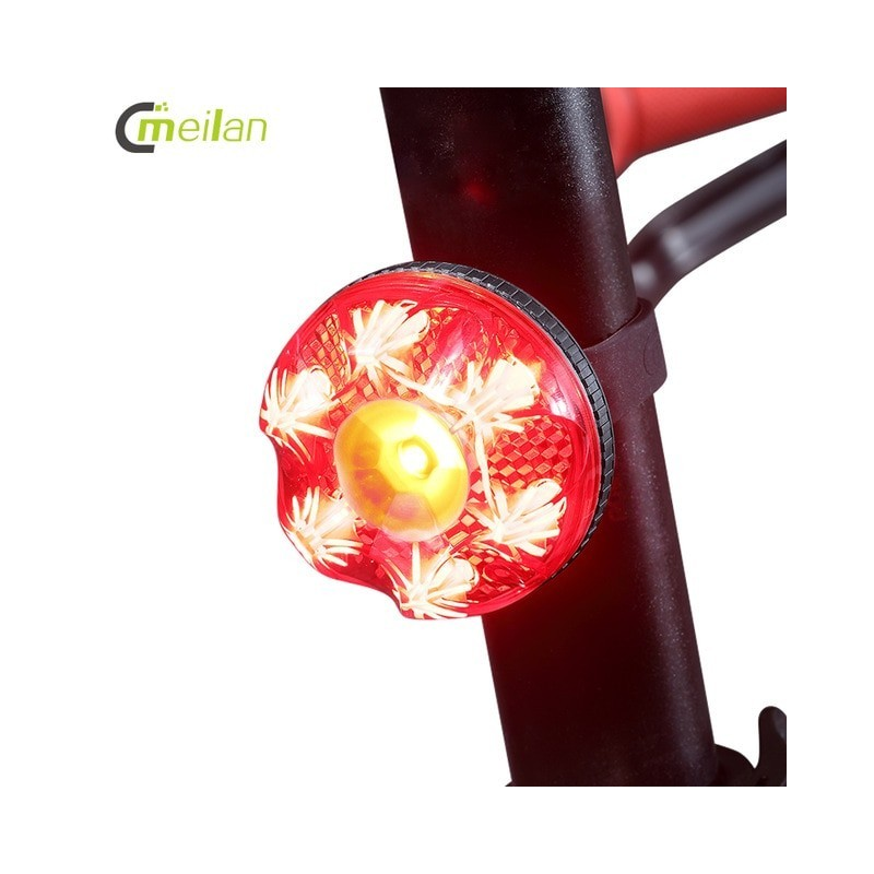 New 2020 Brake induction Bike Tail Light Intelligent Brake Light cycle Led Rechargeable USB Bike Rear Light Safety Warning