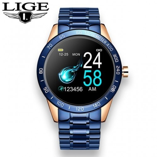 Smart Watch IP67 GPS for Android iPhone Heart rate Fitness Metal Bracelet