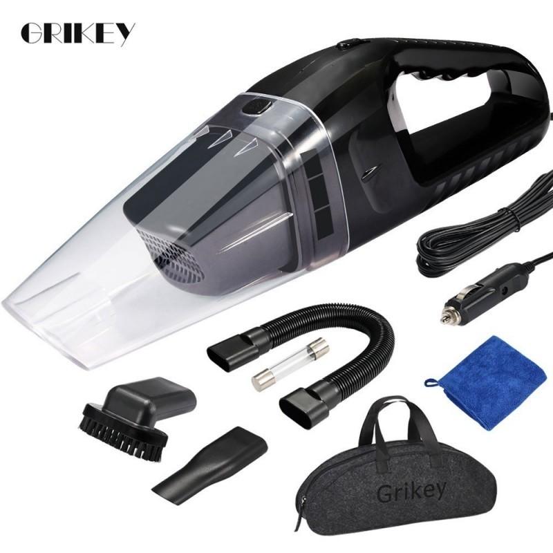 GRIKEY Car Vacuum Cleaner For Car Portable Vacuum Cleaner Handheld 12V 120W Mini Car Vacuum Cleaner Auto Aspirador Coche