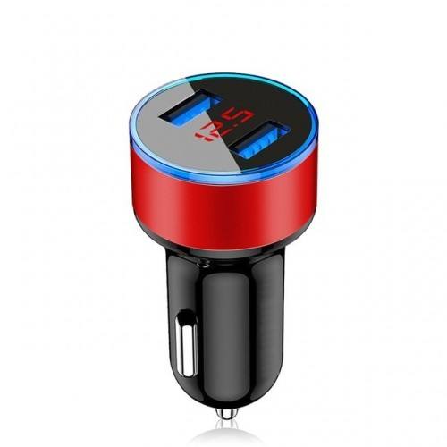 3.1A LED Display Dual USB Car Charger Universal Mobile Phone Aluminum Car-Charger for Xiaomi Samsung iPhone 11 Pro Max
