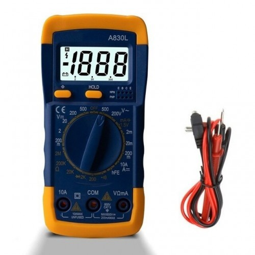 LCD Digital Multimeter AC DC Voltage Diode Frequency Multi tester Current Tester Luminous Display with Buzzer Function