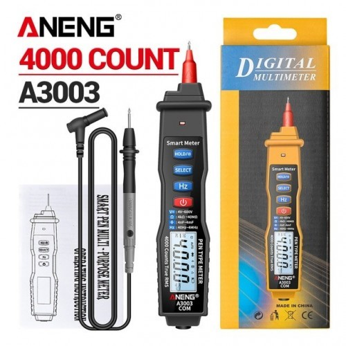 Digital Multimeter Pen Type Meter 4000 Counts with Non Contact AC/DC Voltage Resistance Capacitance Hz Tester Tool