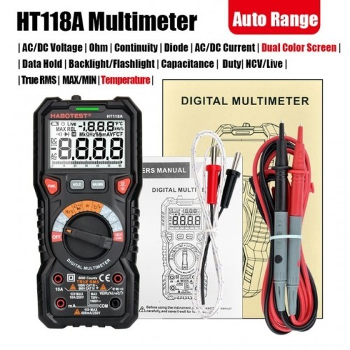 Professional High Precise 6000 counts 1000V AC DC Digital Multimeter Ohm Hz NCV Live C/F Duty Multimeter Voltage Meter