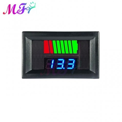 Car Battery Charge Level Indicator 12V 24V 36V 48V 60V 72V Lithium Battery Capacity Meter Tester Display LED Tester Voltmeter