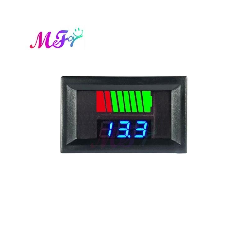 Car Battery Charge Level Indicator 12V 24V 36V 48V 60V 72V Lithium Battery Capacity Meter Tester Display LED Tester Voltmeter