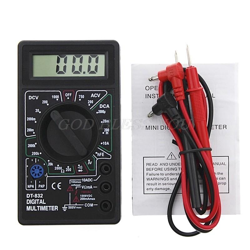 Professional Digital Multimeter LCD DC AC Voltmeter Ammeter Ohm Tester
