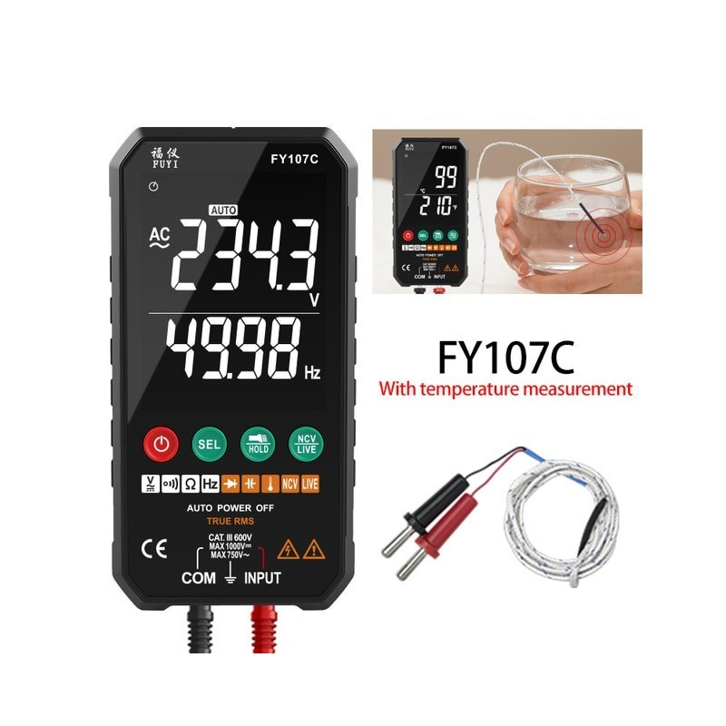 Fully Automatic Simple to use Digital Multimeter Ture RMS AC DC NCV Transistor Capacitor Temperature Voltage Smart Meter