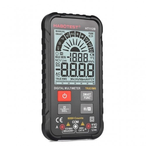 Professional Digital Multimeter Smart Auto Range 600V Mini Voltmeter Battery Tester True RMS Capacitance Amp NCV Detector