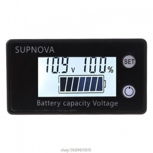Battery Capacity Indicator DC 8V-100V Lead Acid Lithium LiFePO4 Car Motorcycle Voltmeter Voltage 12V 24V 48V 72V N12 20 Dropship