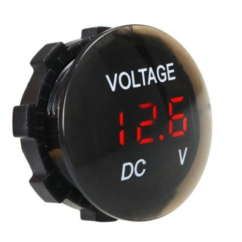 DC 12V-24V Digital Voltage Meter Car Motorcycle Voltmeter Voltage Tester for Car Auto Motorcycle Boat ATV Truck
