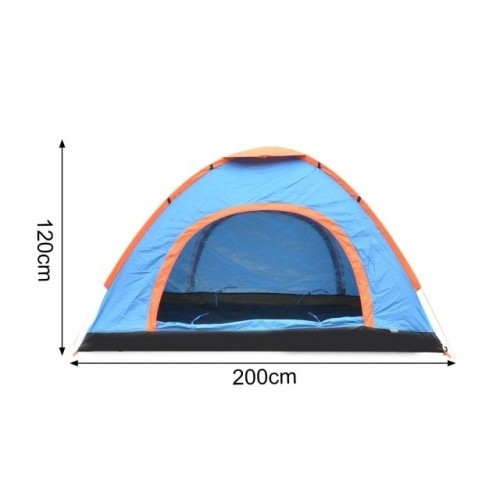 3-4 Person Family Camping Beach Tents Sun Shelter Outdoors Canopy Waterproof Awning Quick Installation Ventilated Tent