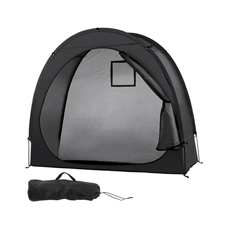 Bike Tent Bike Storage Shed 190T Bicycle Storage Shed With Window Design For Outdoors Camping Tent for Winter Fishing