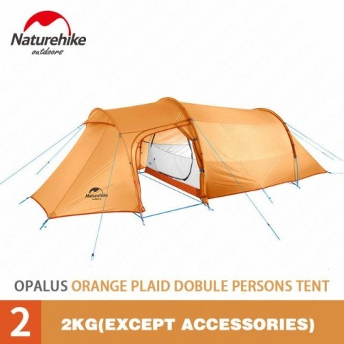Naturehike Opalus Tunnel Tent Outdoor 2-3 Persons Camping Tent 20D Silicone/210T Polyester fabric Tent NH17L001-L free footprint