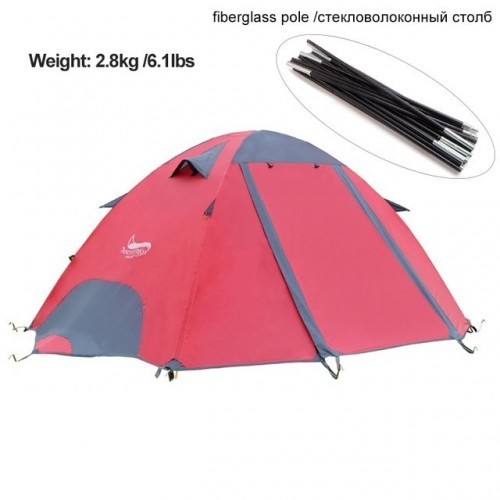 Desert&Fox 3 Season Lightweight Tent Outdoor Camping Hiking Tents with Carry Bag 2-3 Person Double Layer Backpack Compact Tent