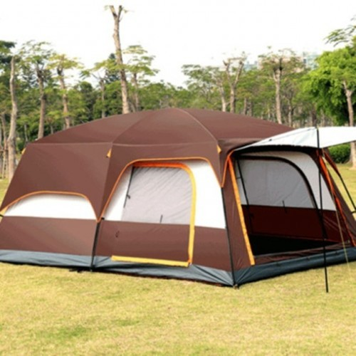 Two-bedroom Tent Leisure Camping Double-decker Oversized 5-8 People Thickened Rainproof Tent