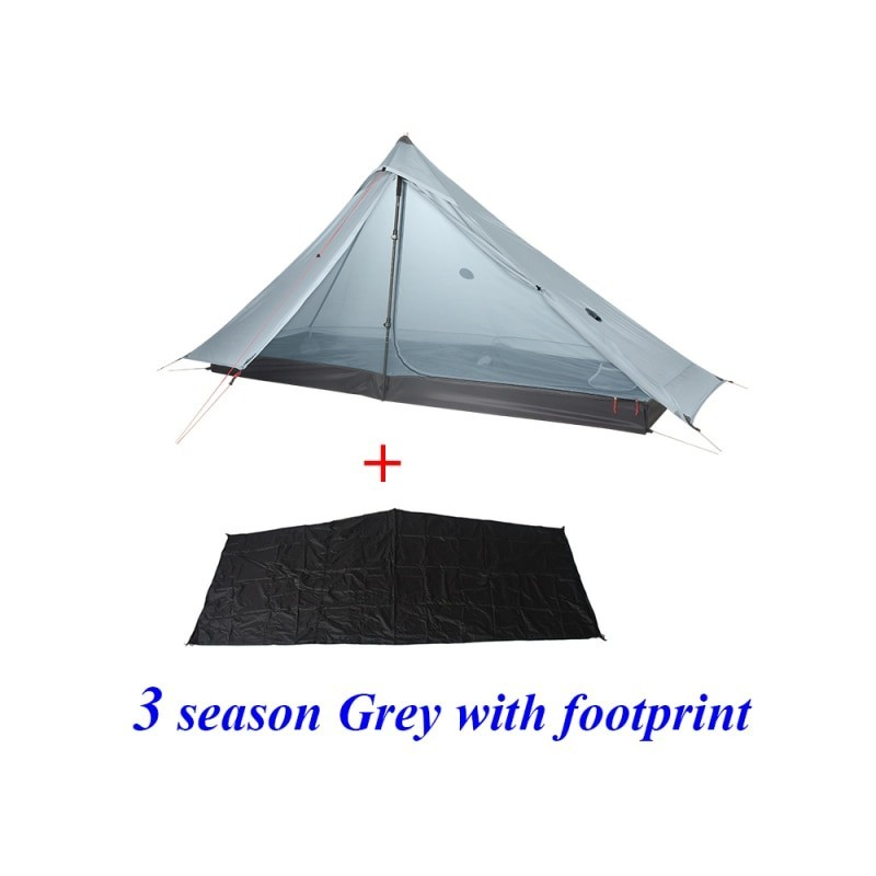 2020 New Version 3F LANSHAN 1 Pro No-See-Um 3 / 4 Season 230*80*125cm 2 Side 20d Silnylon One Person Light Weight Camping Tent