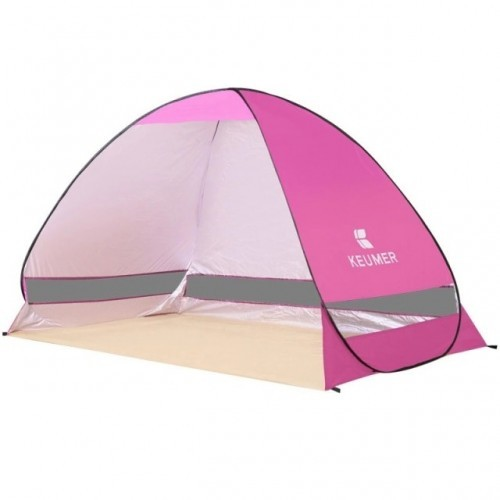 Outdoor Automatic Tent Instant Pop up Camping Tent Portable Travel Beach Tent Anti UV Shelter Fishing Hiking Picnic Silver X88B