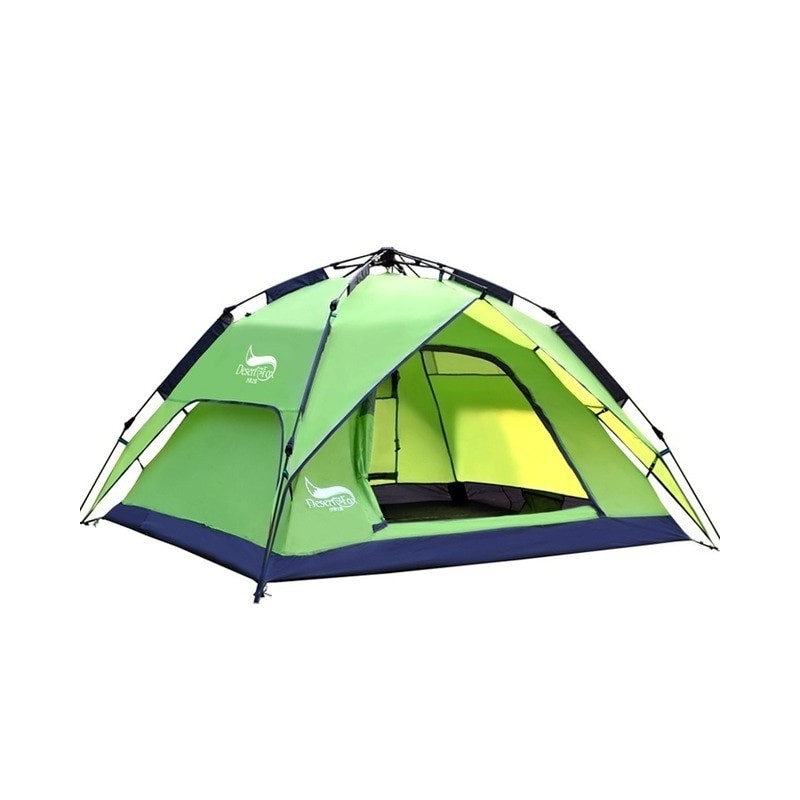 Desert&Fox Automatic Camping Tent, 3-4 Person Family Tent Double Layer Instant Setup Protable Backpacking Tent for Hiking Travel