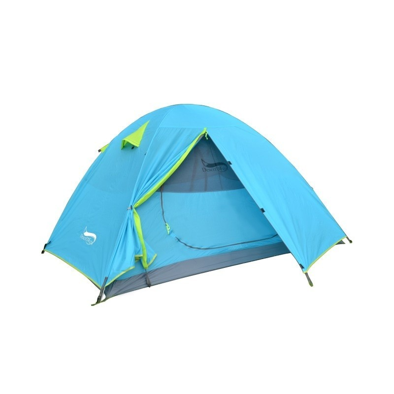 Desert&Fox Backpacking Camping Tent, Lightweight 1-3 Person Tent Double Layer Waterproof Portable Aluminum Poles Travel Tents