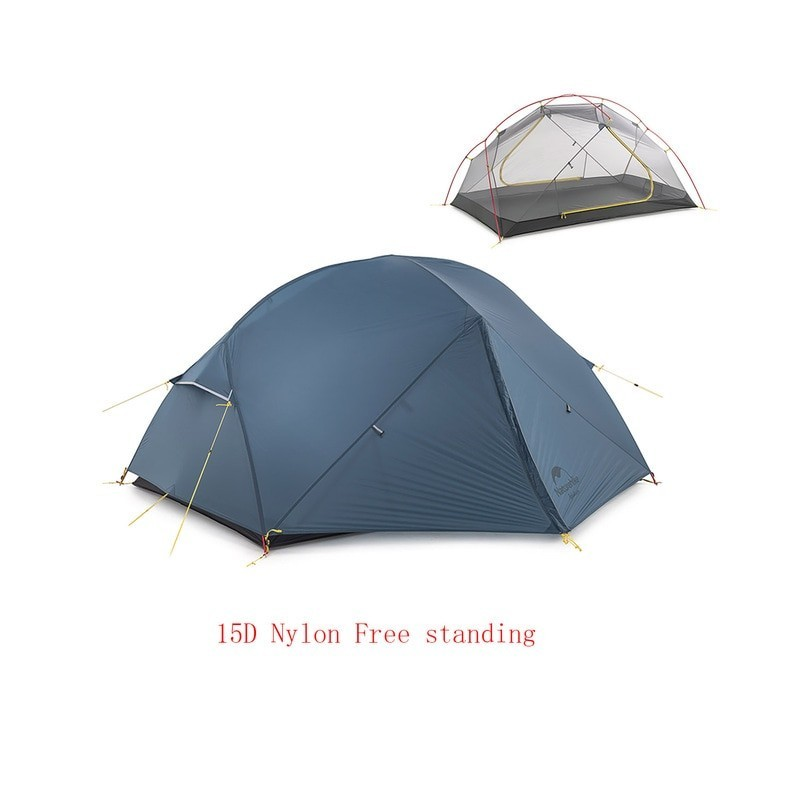 Naturehike Mongar 2 Persons Camping Tent 20D Nylon Fabric Double Layer Waterproof Outdoor Camping Tent NH17T007-M