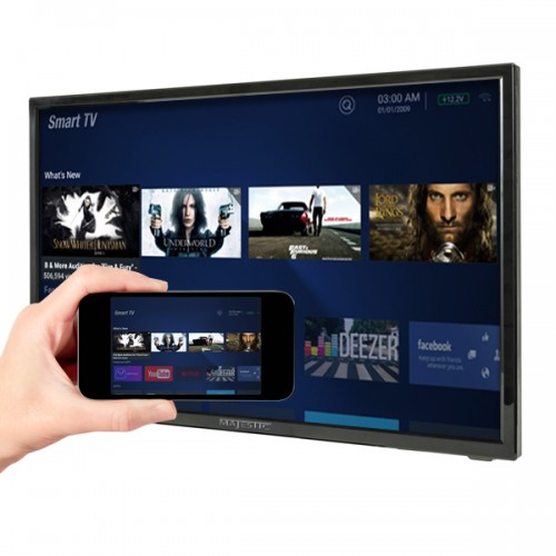 """Majestic 24"""" FHD 12 Volt SMART LED TV with Wireless Mirror Screen Sharing"""